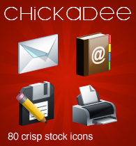 chickadee stock icons