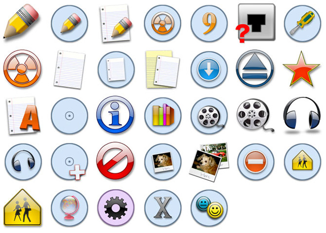 Blue Circles icons
