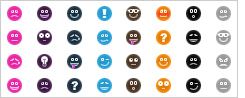 InkyStamp Stock Smilie Icons