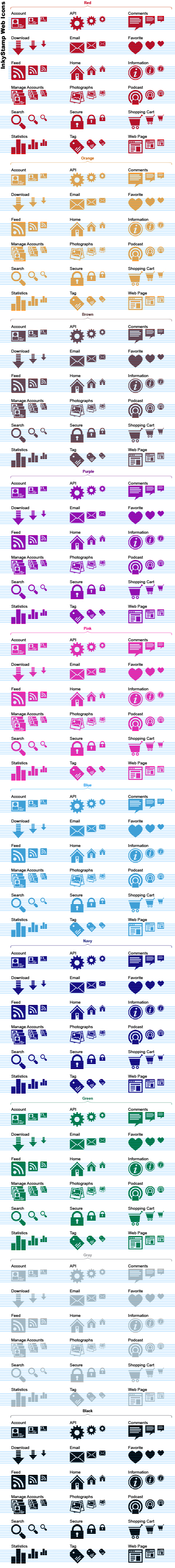 InkyStamp Web Stock Icons