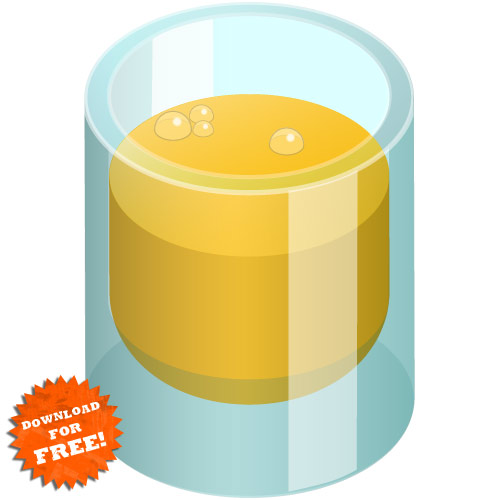 Glass of OJ vector image